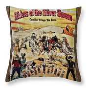 Cowboys And Knives Throw Pillow