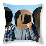 Cowboys Anonymous Throw Pillow