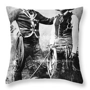 Cowboys, C1900 Throw Pillow