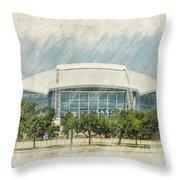 Cowboys Stadium Throw Pillow