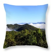 Cowee Overlook At Black Rock Mountain State Park Throw Pillow