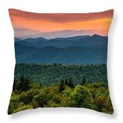 Cowee Sunset. Throw Pillow