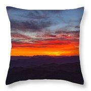 Cowee Sunset Throw Pillow