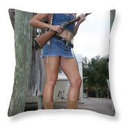 Cowgirl 019 Throw Pillow