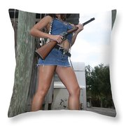 Cowgirl 022 Throw Pillow