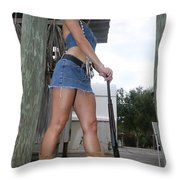 Cowgirl 023 Throw Pillow