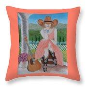 Cowgirl Attitude Throw Pillow
