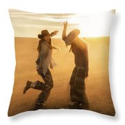 Cowgirl Dance Throw Pillow