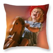 Cowgirl Throw Pillow