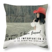 Cowgirl Red Quote Throw Pillow