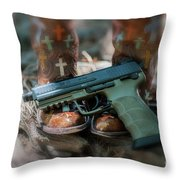 Cowgirl Shabby Chic Throw Pillow