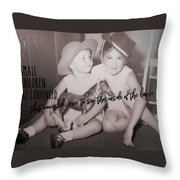 Cowgirls Quote Throw Pillow