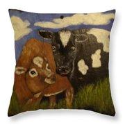 Cow's Throw Pillow