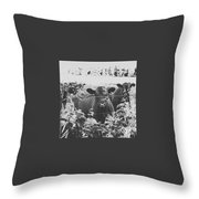 Cows In Black And White Throw Pillow