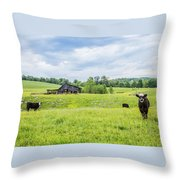 Cows In The Country Throw Pillow