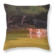 Cows Just Wanna Have Fun Throw Pillow