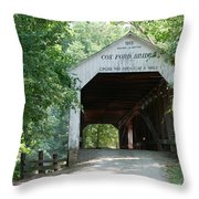 Cox Ford Bridge Throw Pillow