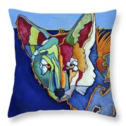 Coyote Blue Throw Pillow