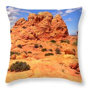 Coyote Buttes Pastel Landscape Throw Pillow
