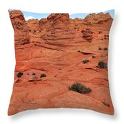 Coyote Buttes Pink Landscape Throw Pillow