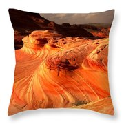 Coyote Buttes Rainbow Dragon Throw Pillow
