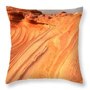 Coyote Buttes Sunset Glow Throw Pillow
