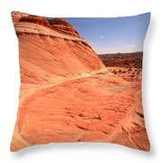 Coyote Buttes Swirling Sandstone Throw Pillow