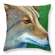 Coyote Logic Throw Pillow