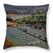 Coyote Point Marina San Francisco Bay Sfo California Throw Pillow