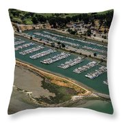 Coyote Point Yacht Club In San Mateo, California Throw Pillow