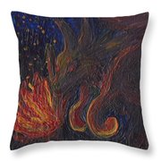 Coyote Steals Fire Detail Throw Pillow