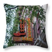 Coyote Ugly Saloon Nashville Throw Pillow