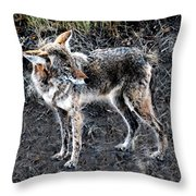 Coyote Waits Throw Pillow