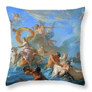 Coypel's The Abduction Of Europa Throw Pillow