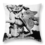 Coysevox: Mercury & Pegasus Throw Pillow