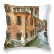 Cozy Cafe Throw Pillow