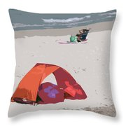 Cozy Hide-a-way For Two On A Florida Beach Throw Pillow