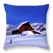 Cozy In Winter Throw Pillow