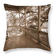 Cozy Southern Porch Throw Pillow by Carol Groenen