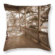 Cozy Southern Porch Throw Pillow