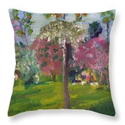 Crab Apple Blossom Time Throw Pillow