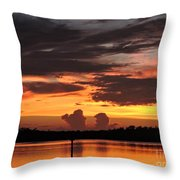 Crab Claw Skyline Throw Pillow