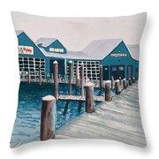 Crab Deck Throw Pillow