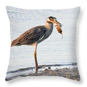 Crab Dinner Throw Pillow