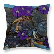 Crab Feed Throw Pillow