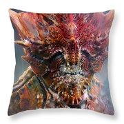 Crab King Throw Pillow