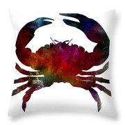 Crab Nebula Throw Pillow by Michael Colgate