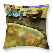 Crab Shack Japanese Style Throw Pillow