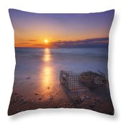 Crab Trap Sunset Le Throw Pillow