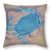 Crab Works Throw Pillow